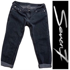 Seven7 Luxe Skinny Cropped Jeans Sz 16